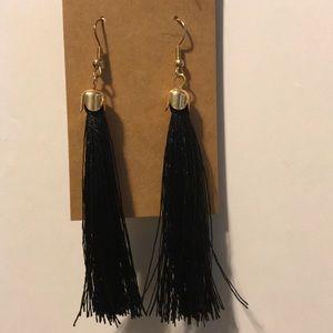 3/$15 black tassel earrings